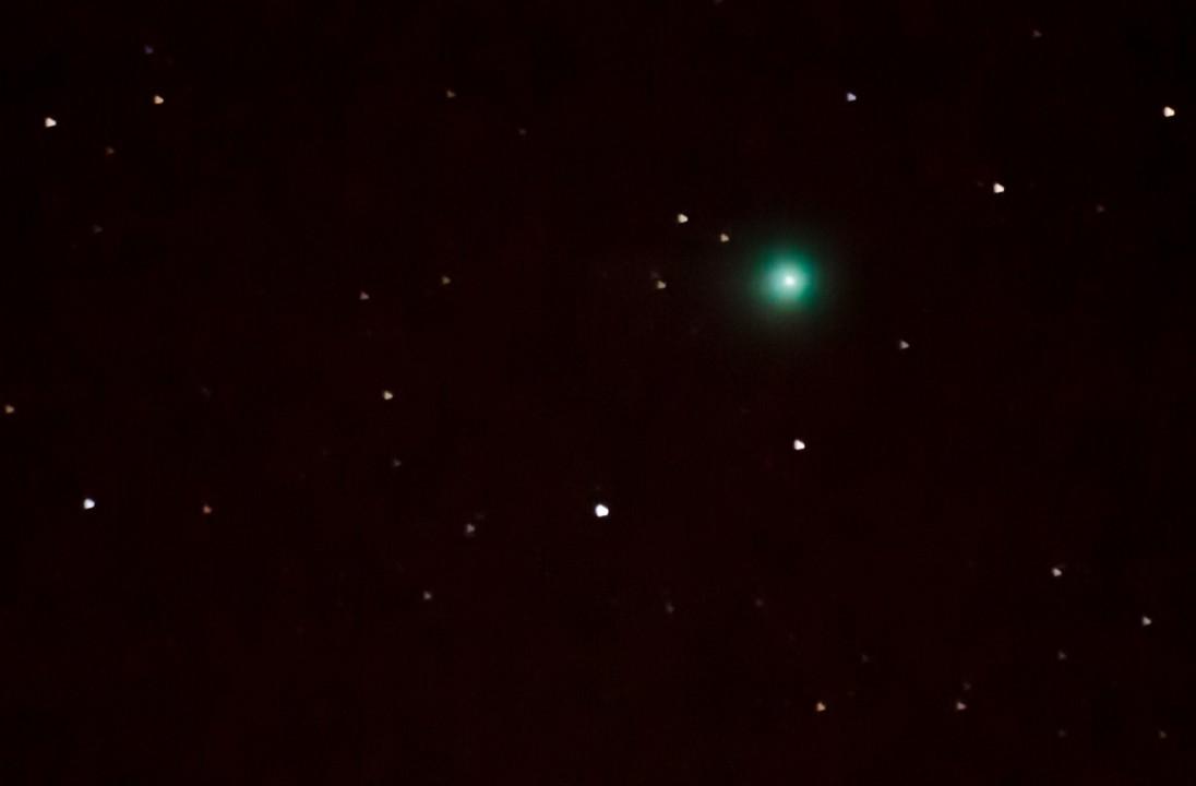 -I kveld kan du se en grønn komet