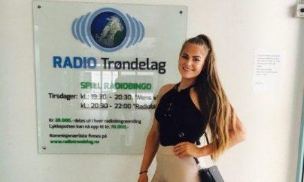 Miss Norway kandidat Eirin Myrvang Berg besøker Radio Trøndelag